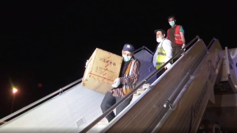 شاهد.. مساعدات طبية صينية تصل سوريا