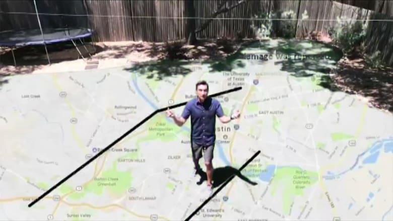 مذيع نشرة أخبار جوية يحول فناءه الخلفي إلى خريطة طقس