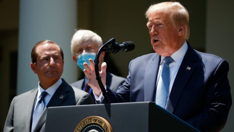 """ترامب يهدد منظمة الصحة بوقف التمويل بشكل دائم في حال عدم """"استقلالها عن الصين"""""""