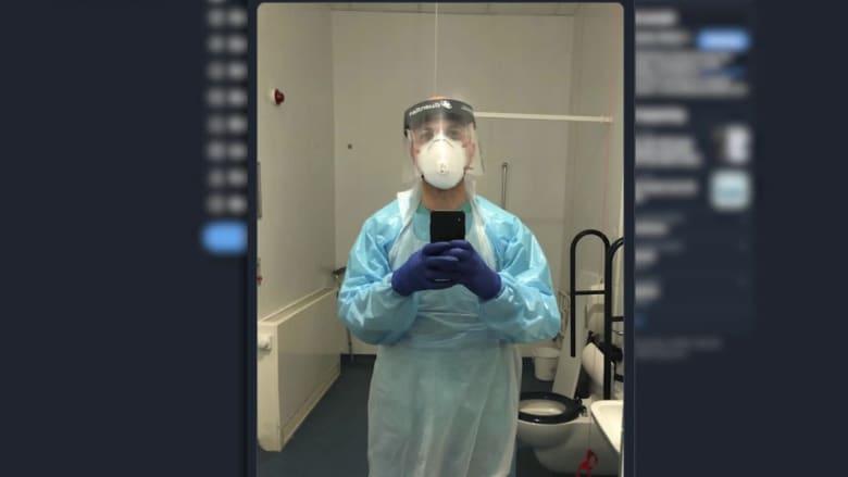 لتقديم المساعدة.. مخرج أفلام سوري يعمل في تنظيف جناح  كورونا بمستشفى في لندن
