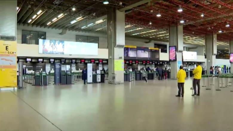 هكذا يبدو مطار غوارولوس في البرازيل بعد إعلان ترامب لقيود السفر