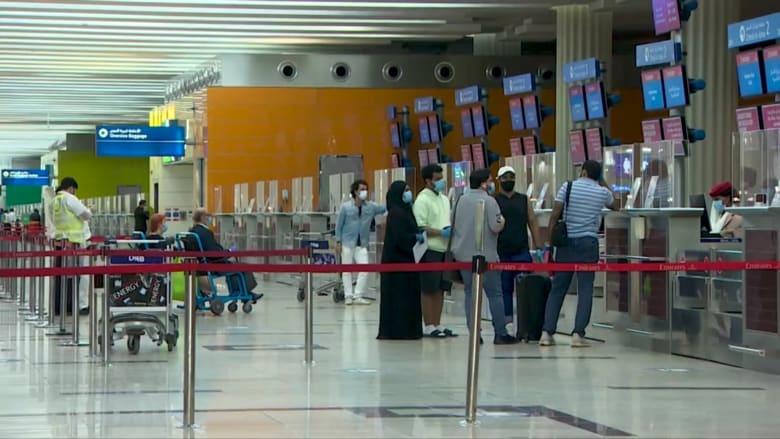 بعد استئنافه أولى رحلاته التجارية.. نظرة داخل مطار دبي في زمن كورونا