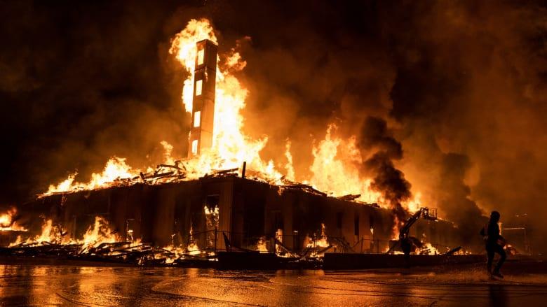 أعمال عنف وحرائق واشتباكات فيمينيسوتا بعد مقتل جورج فلويد