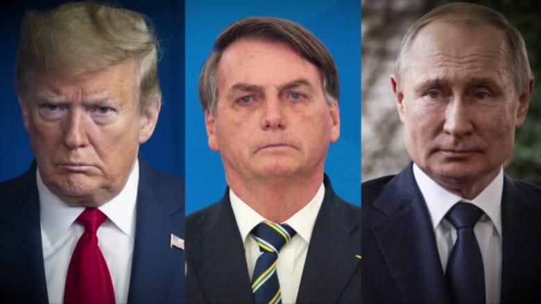منافسة مختلفة بين ترامب وبوتين وبولسونارو في مواجهة كورونا.. من الأسوأ؟