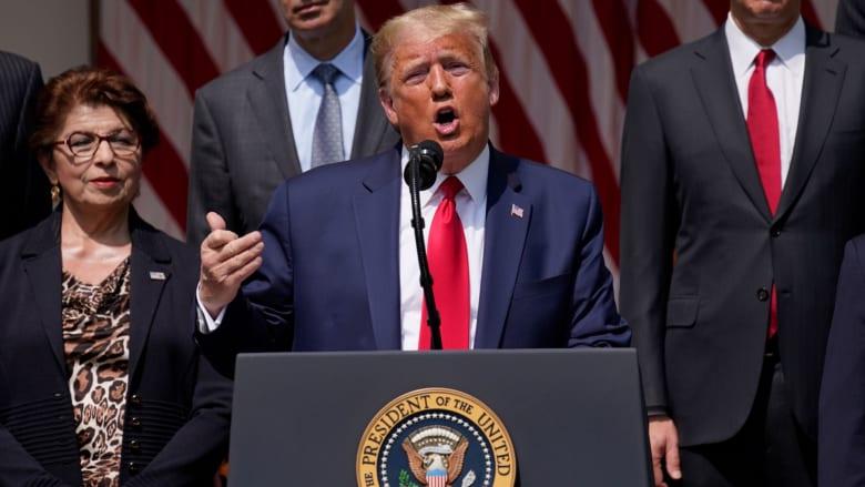 ترامب في خطاب تقرير الوظائف الشهري: يوم عظيم لجورج فلويد