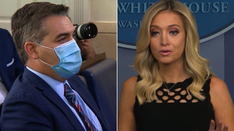 مراسل CNN للمتحدثة باسم البيت الأبيض حول فيديو ترامب: ألا يجعلكم ذلك أخبارًا مزيفة؟