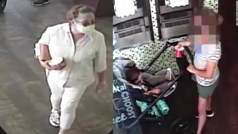 كاميرا مراقبة ترصد امرأة تخلع قناعها وتسعل في وجه طفل