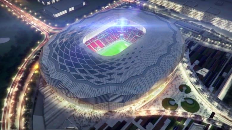 """""""ماسة في قلب الصحراء"""".. قطر تنهي ثالث ملاعب كأس العالم 2022"""