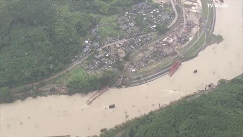 مصرع 18 شخصًا بسبب الأمطار الغزيرة والفيضانات في اليابان
