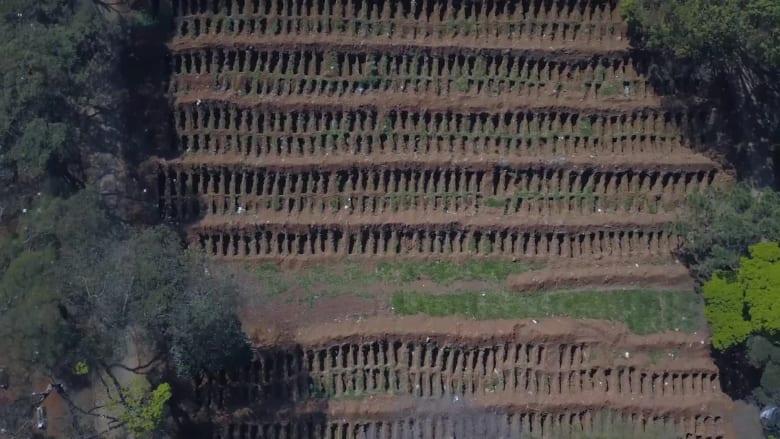 مشهد صارخ.. مقطع جوي يظهر المقابر الجماعية لضحايا فيروس كورونا في ساو بولو
