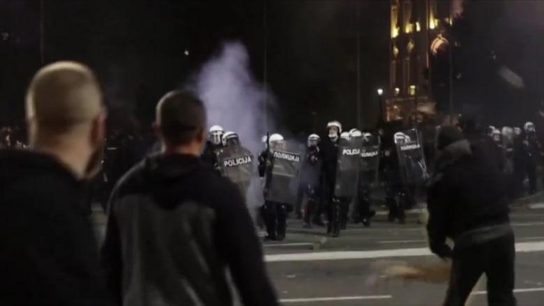 في يومها الرابع.. مظاهرات صربيا تستمر احتجاجاً على طريقة معالجة أزمة كورونا