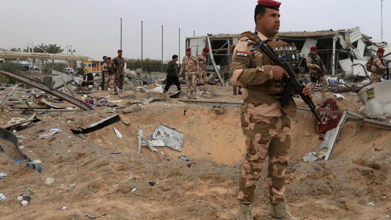 الجيش العراقي: سقوط 4 صواريخ على معسكر يضم قوات للتحالف الدولي بالعراق