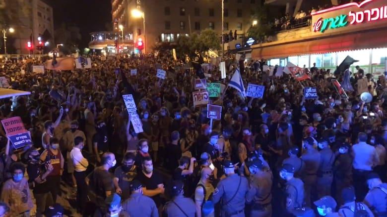 احتجاجات في القدس ضد سياسة نتنياهو والشرطة الإسرائيلية تتصدى للمتظاهرين