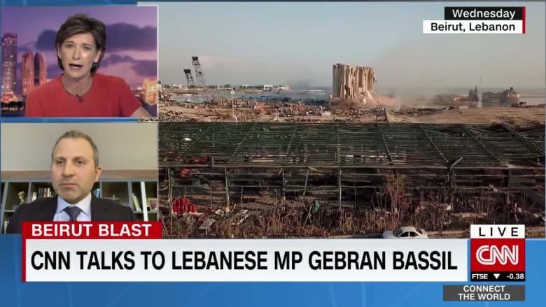 جبران باسيل لـCNN: حدوث انفجار مرفأ بيروت مسؤولية الدولة.. وقد يكون هجومًا