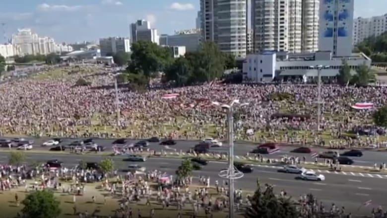 هكذا بدت مينسك عاصمة بيلاروسيا مع هدير الحشود ضد لوكاشينكو