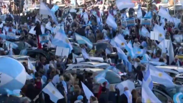 احتجاجات ضخمة في الأرجنتين وسط تفشي فيروس كورونا
