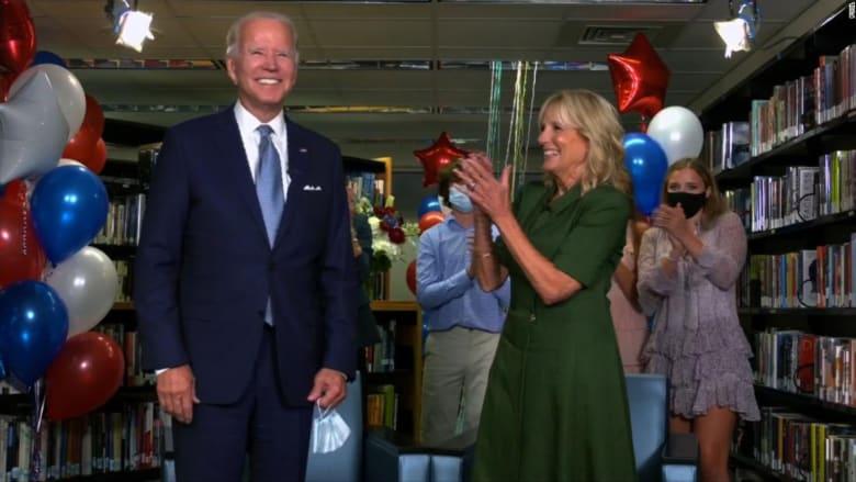 شاهد لحظة فوز جو بايدن رسمياً بترشح الحزب الديمقراطي