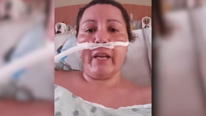 مصابة بفيروس كورونا تقدم نداء عاجلا وهي تكافح للتنفس قبل وفاتها