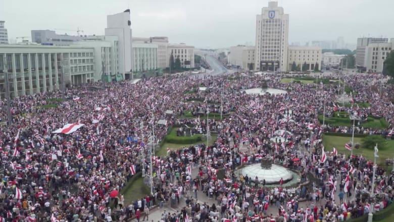 """استمرار الاحتجاجات في بيلاروسيا.. """"لن نستسلم حتى يتنحى لوكاشينكو عن السلطة"""""""