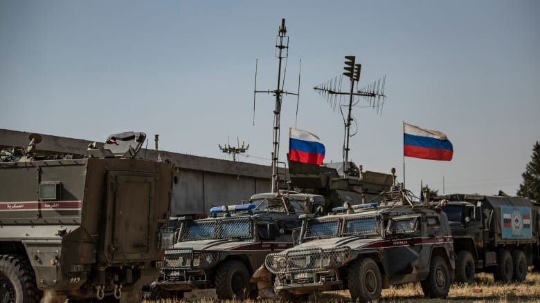 صورة أرشيفية لعربات عسكرية روسية في سوريا