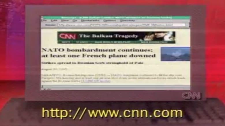 إليك نظرة على موقع CNN عند إنطلاقه منذ 25 عاماً في عام 1995