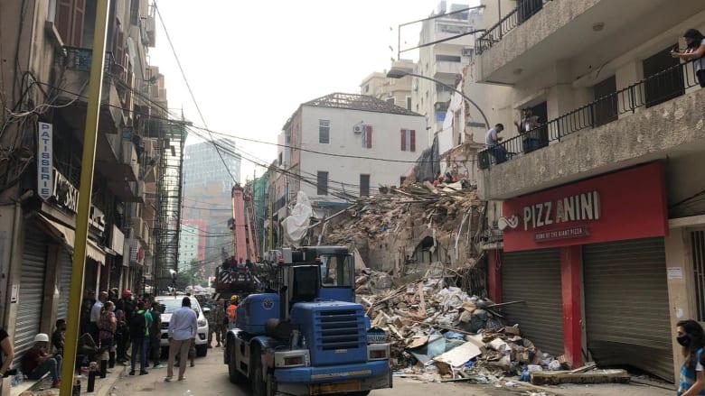 شاهد.. البحث تحت أنقاض انفجار مرفأ بيروت بعد مؤشرات وجود أحياء