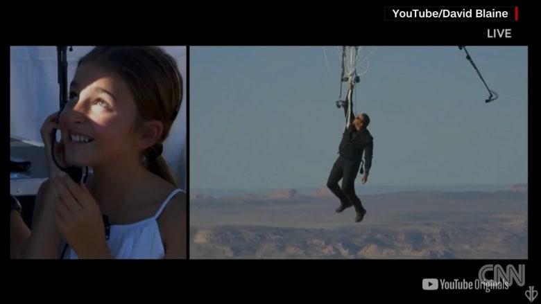 مُعلقاً بـ52 بالونًا فقط.. هذا الرجل وصل لارتفاع 25 ألف قدم