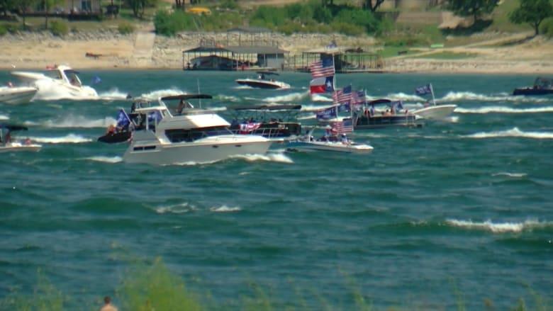 غرق قوارب أثناء عرض لدعم ترامب في بحيرة في تكساس