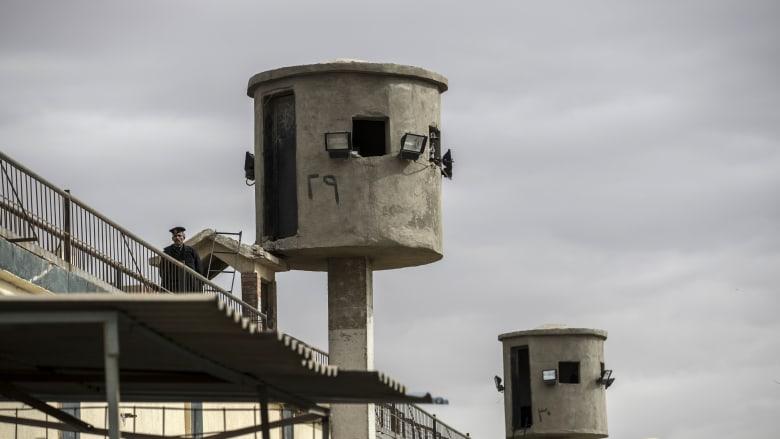 صورة أرشيفية لأبراحج مراقبة في سجن طرة في مصر