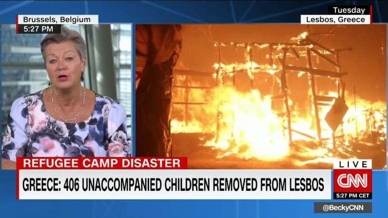 """الاتحاد الأوروبي: موقف موريا """"خطير"""".. وننتظر الترحيب بأطفال المخيم"""