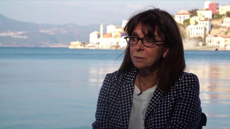 رئيسة اليونان تطلب مساعدة من الاتحاد الأوربي بشأن أزمة اللاجئين