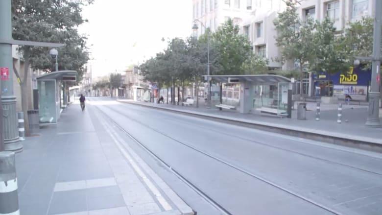 شوارع خالية وأسواق مغلقة.. مع بداية الإغلاق في إسرائيل بسبب فيروس كورونا