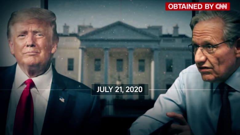 """تسجيلات صوتية جديدة بين ترامب ووودوارد: تعاملي مع الفيروس يستحق درجة """"A"""""""