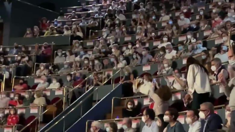 إلغاء عرض أوبرا في مدريد بعد تظاهر الحضور لعدم وجود تباعد اجتماعي