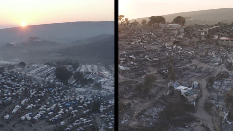 لينا هيدي لـCNN: مخيم موريا للاجئين حفرة جحيم احترقت على الأرض