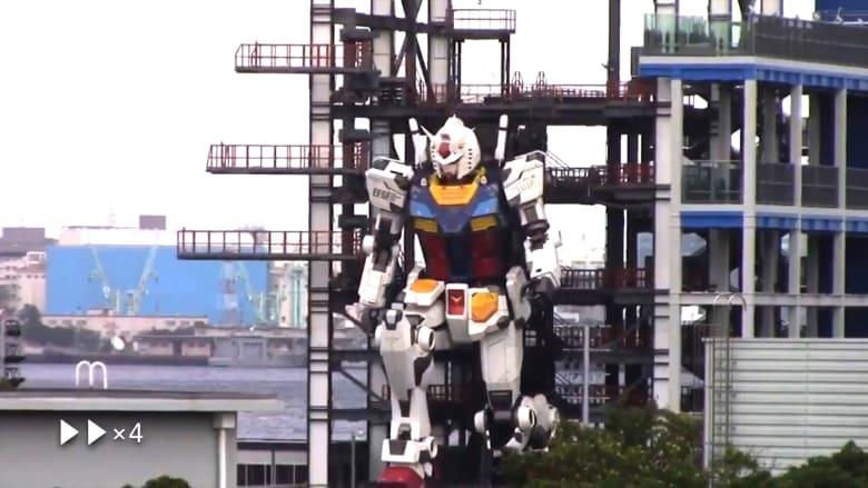 """شاهد حركات الروبوت الياباني العملاق """"غاندام"""" في يوكوهاما"""