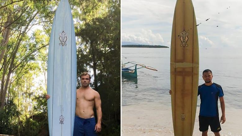 بعد فقدانه بهاواي.. رجل يعثر على لوح ركوب الأمواج خاصته على بعد 8 آلاف كيلومتر بالفلبين