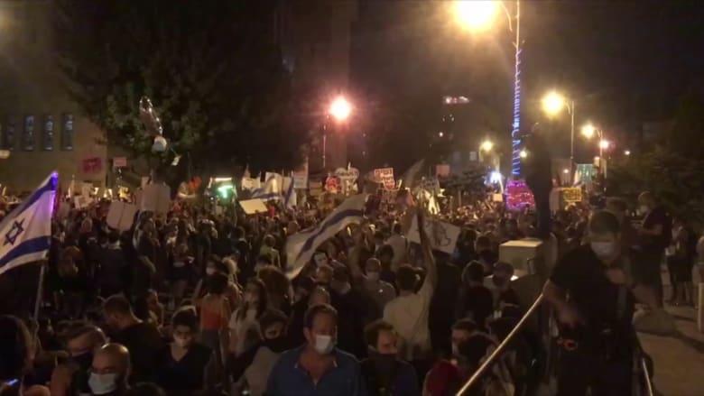 استمرار المظاهرات ضد نتنياهو في القدس رغم ارتفاع حالات كورونا