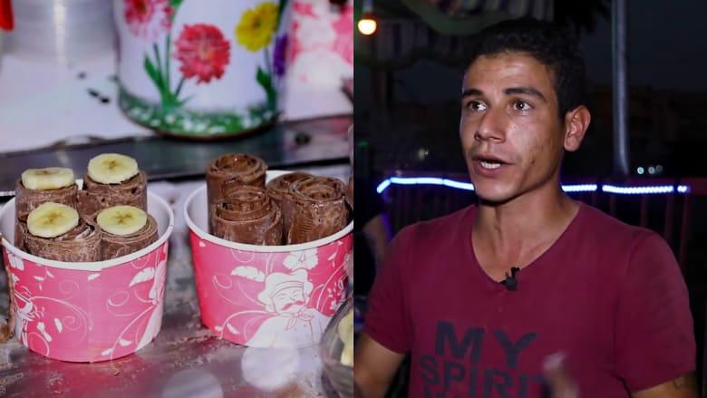 """شاب سوري يبهر سكان الرقة بمثلجات الصاج """"الطبيعية"""""""