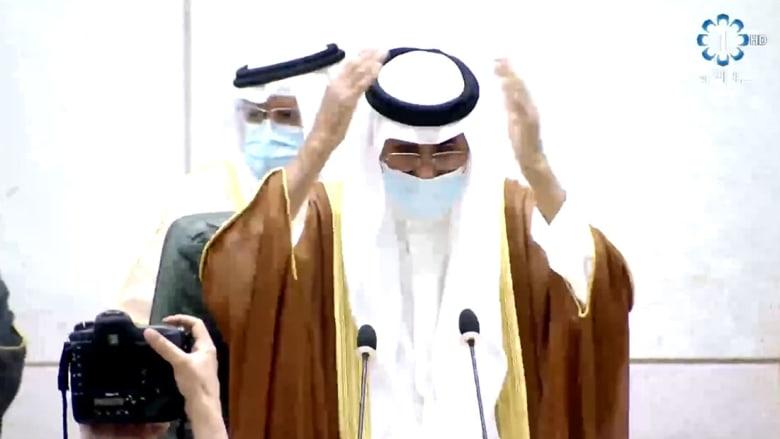 مراسم أداء القسم لأمير الكويت الجديد في البرلمان