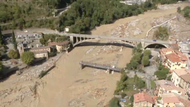 العاصفة أليكس في فرنسا.. 8 مفقودين وسط فيضانات وقرى معزولة بالكامل