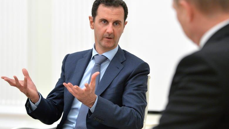 """الأسد يتهم قطر والسعودية بدعم الإرهابيين في سوريا.. وترامب صريح"""""""