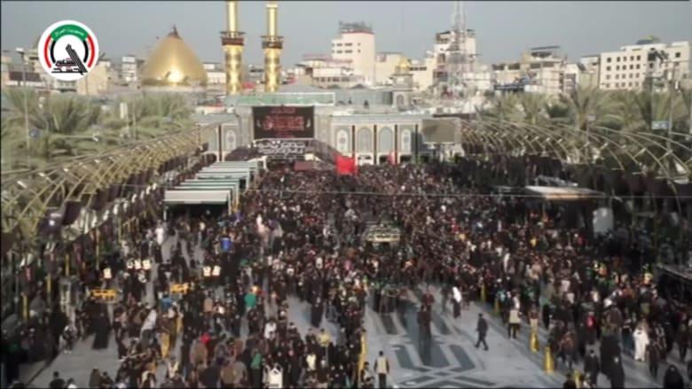 """""""أربعينية الحسين"""".. تجمعات حاشدة في كربلاء رغم التحذير من كورونا"""
