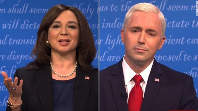 برنامج SNL  يعيد مناظرة نائب الرئيس في مشهد ساخر