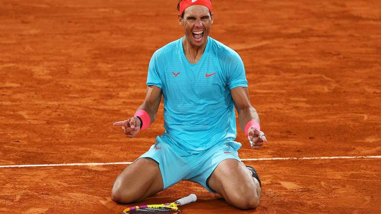 رافائيل نادال يفوز بعدد قياسي من بطولات فرنسا المفتوحة للتنس
