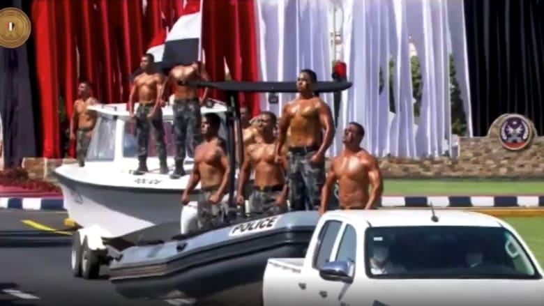 شاهد.. استعراض عضلات افراد من الشرطة المصرية في حفل تخرجهم