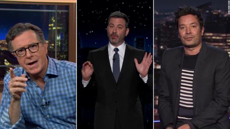 """""""أنا أقل شخص عنصري في هذه الغرفة"""".. برنامج Late Night يسخر عن المناظرة الرئاسية"""