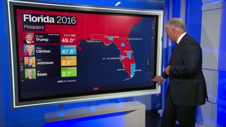 """بالخريطة التفاعلية.. """"معركة الضواحي"""" اختبار حاسم لترامب وبايدن في فلوريدا"""