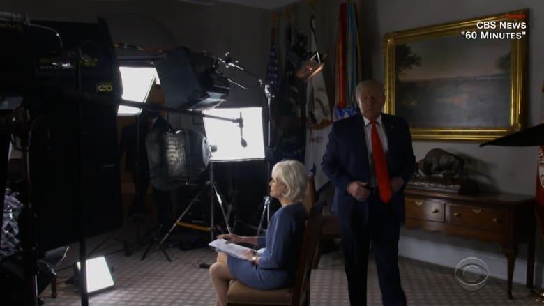 """شاهد مقابلة """"60 دقيقة"""" التي أنهاها ترامب فجأة بعد قوله """"هذه ليست طريقة مناسبة للحديث"""""""