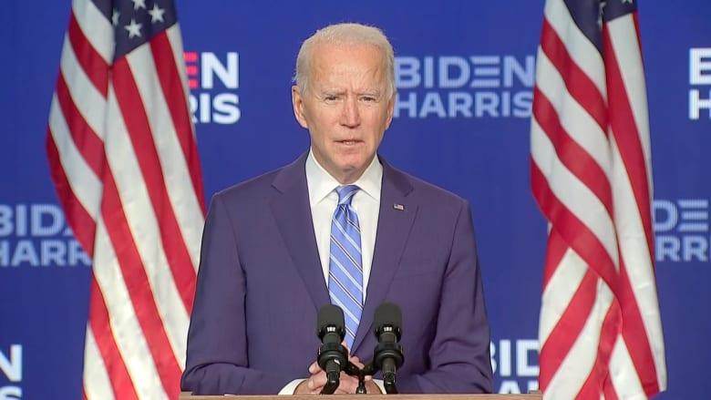 بايدن: حصلنا على عددٍ كاف من الولايات الضرورية للفوز بالرئاسة